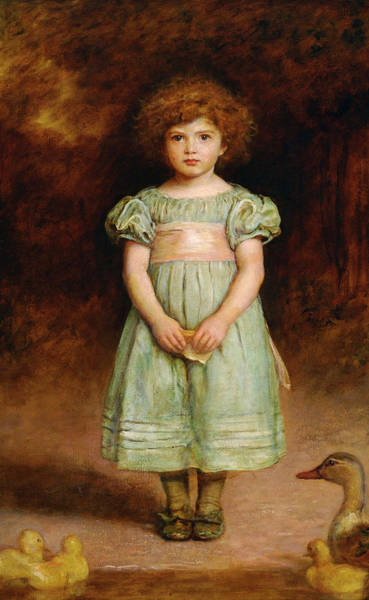 Millais Painting - Ducklings by John Everett Millais