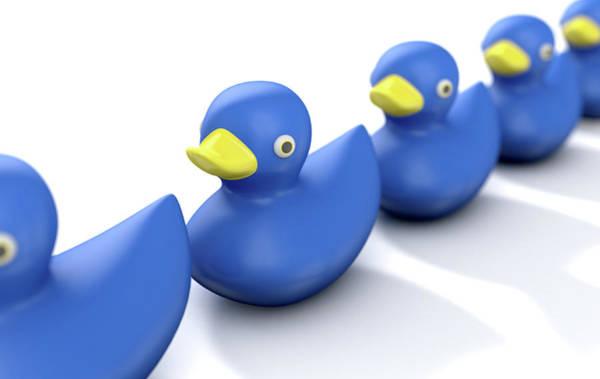 Rubber Duck Wall Art - Digital Art - Ducks In A Row by Allan Swart