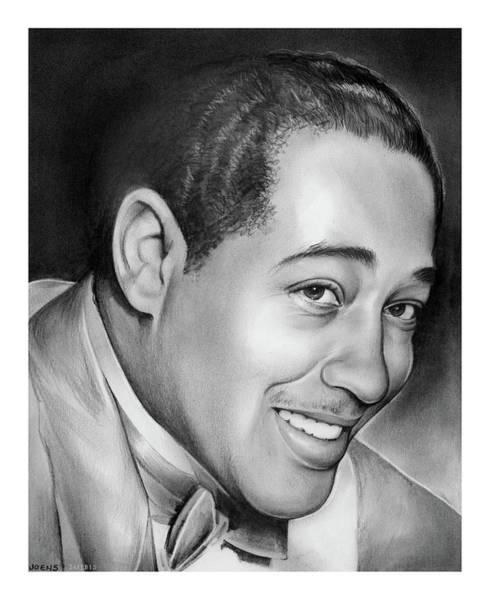 Jazz Musician Wall Art - Drawing - Duke Ellington by Greg Joens