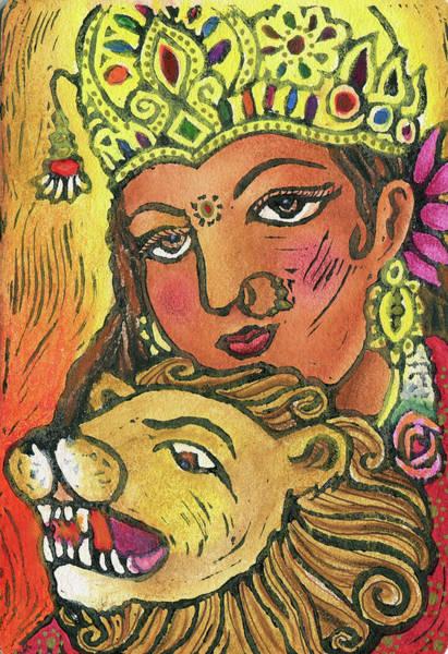 Wall Art - Mixed Media - Durga by Jennifer Mazzucco