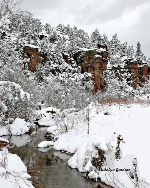 Photograph - East Verde Winter Crossing by Matalyn Gardner