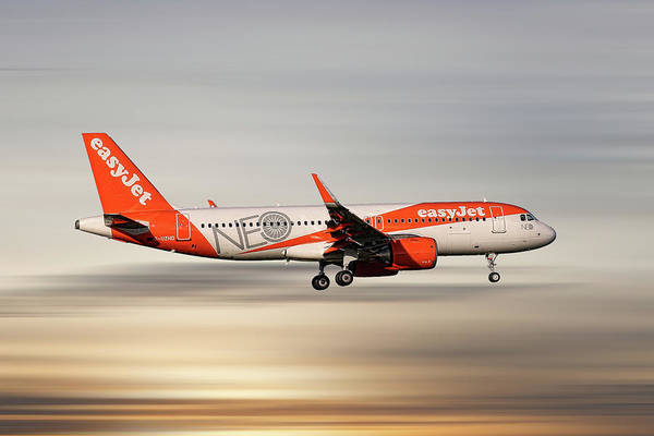 Easyjet Wall Art - Mixed Media - Easyjet Neo Livery Airbus A320-251n by Smart Aviation