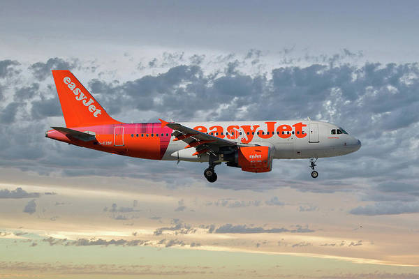 Easyjet Wall Art - Photograph - Easyjet Tartan Livery Airbus A319-111 by Smart Aviation