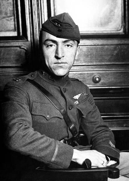Pilot Photograph - Eddie Rickenbacker by War Is Hell Store
