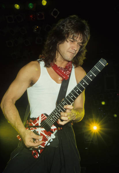 Photograph - Eddie Van Halen by Rich Fuscia