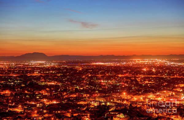Downtown El Paso Photograph - El Paso, Texas by Denis Tangney Jr