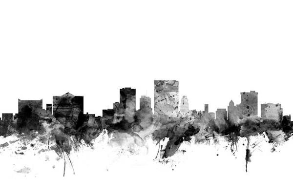 El Paso Wall Art - Digital Art - El Paso Texas Skyline by Michael Tompsett