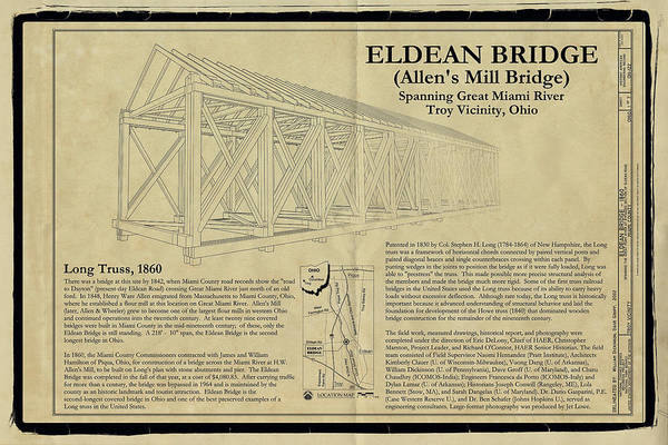 Photograph - Eldean  Covered Bridge by Jack R Perry