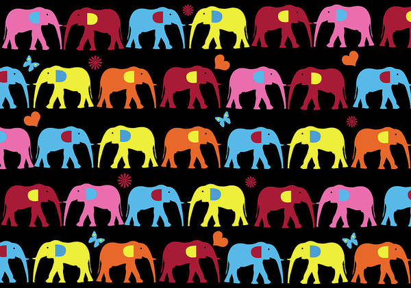 Wall Art - Digital Art - Elephant  by Mark Ashkenazi