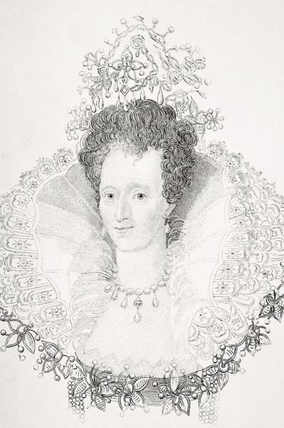 Wall Art - Drawing - Elizabeth I 1533-1603 Queen Of England by Vintage Design Pics