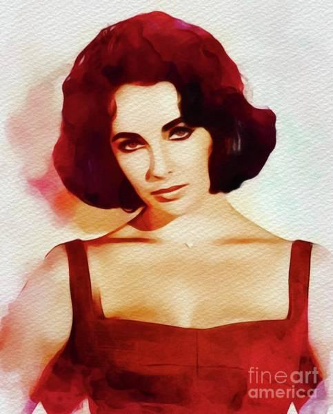 Elizabeth Taylor Painting - Elizabeth Taylor, Vintage Movie Star by John Springfield