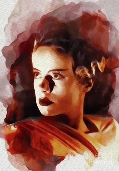 Frankenstein Painting - Elsa Lanchester, Bride Of Frankenstein by John Springfield