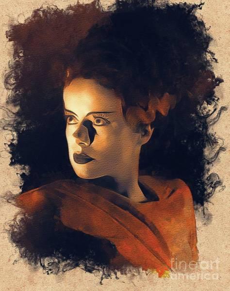 Frankenstein Painting - Elsa Lanchester Bride Of Frankenstein by Mary Bassett