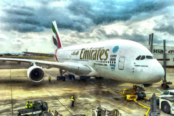 Wall Art - Photograph - Emirates A380 Airbus Art by David Pyatt