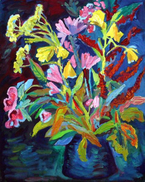 Evening Flowers Art Print by Katia Weyher