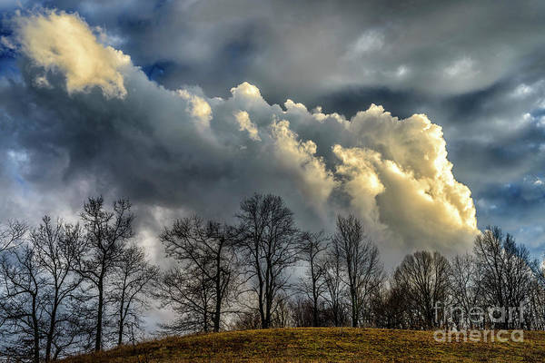 Photograph - Evevning Storm Clouds by Thomas R Fletcher