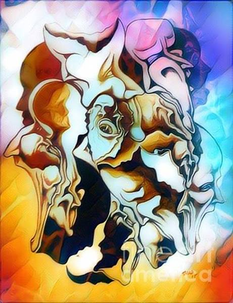 Tmad Drawing - Evolution In Mind by Michael  TMAD Finney