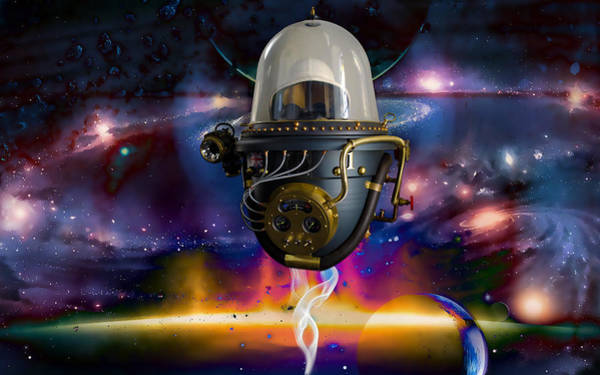 Space Ship Mixed Media - Exploration by Marvin Blaine