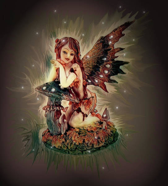 Digital Art - Fairy Princess Doll by Artful Oasis