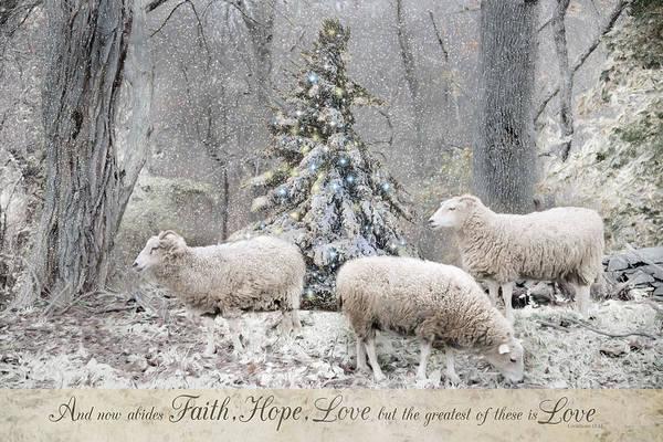 Photograph - Faith Hope Love by Robin-Lee Vieira