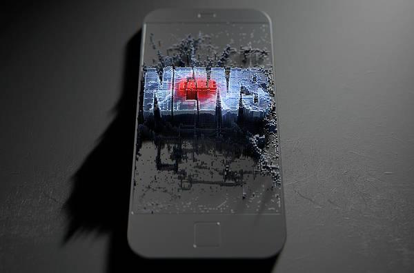 Wall Art - Digital Art - Fake News Cloner Smartphone by Allan Swart