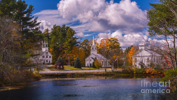 Photograph - Fall Foliage In Marlow, New Hampshire. by New England Photography