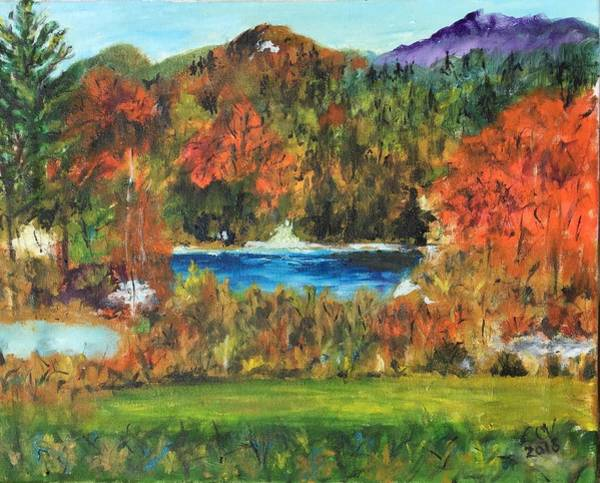 Adirondack Mountains Painting - Fall In The Adirondacks by Lucille  Valentino