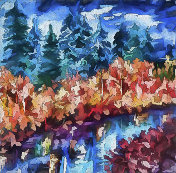 Painting - Fall In The Rockies by OLena Art Brand