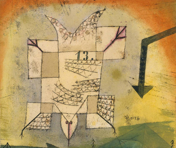 Drawing - Falling Bird by Paul Klee
