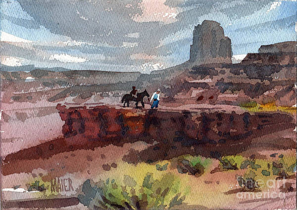 Butte Painting - Father And Son by Donald Maier