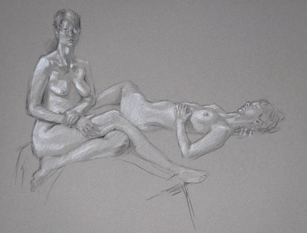 Painting - Female Nude 2 by Christopher Reid
