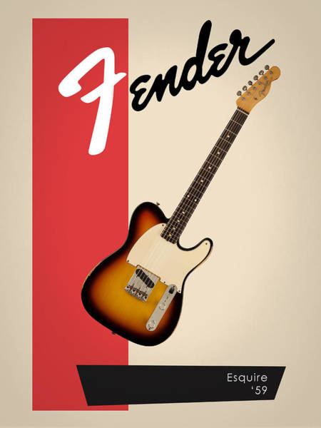 Wall Art - Photograph - Fender Esquire 59 by Mark Rogan