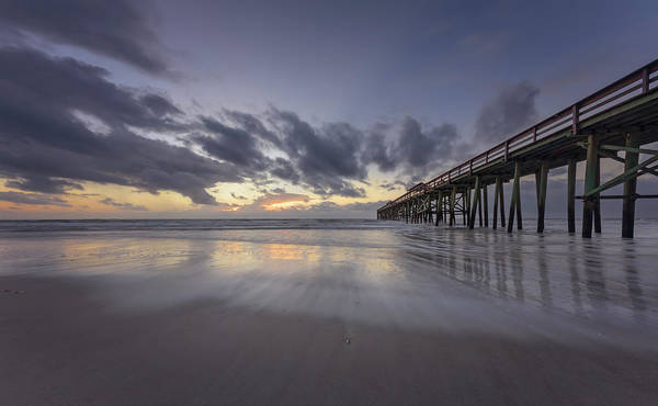 Photograph - Fernandina Beach Pier by Peter Lakomy