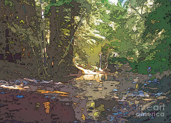 Wall Art - Digital Art - Fernwood  Creek Big Sur by Anthony Forster