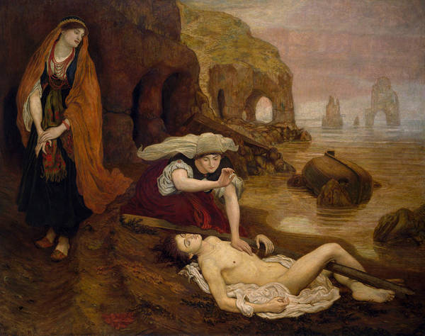 Painting - Finding Of Don Juan By Haidee by Ford Madox Brown