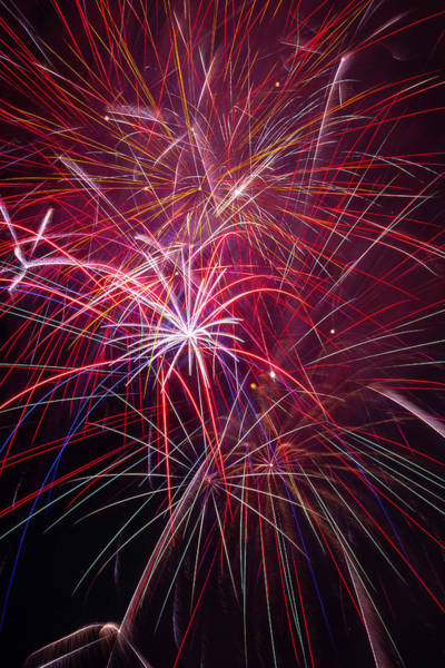 Dazzle Wall Art - Photograph - Fireworks Exploding by Garry Gay
