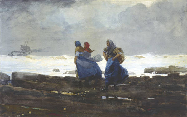 Wall Art - Painting - Fishwives by Winslow Homer