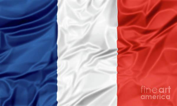 Digital Art - Flag Of France by Benny Marty