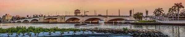 Photograph - Flagler Bridge In Lights Panorama by Debra and Dave Vanderlaan