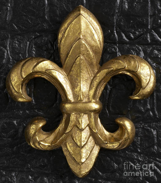 Wall Art - Photograph - Gold Fleur-di-lis by Tony Cordoza