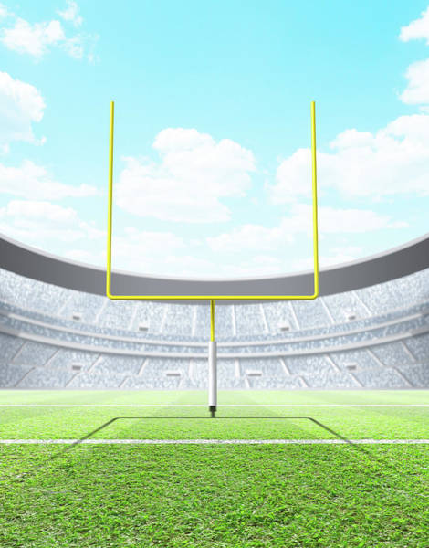 Daylight Digital Art - Floodlit Stadium Day by Allan Swart