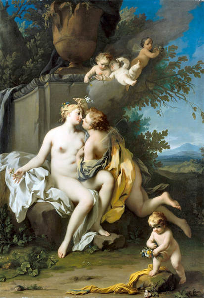 Photograph - Flora And Zephyr  by Jacopo Amigoni