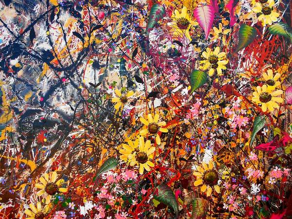 Tangle Painting - Flourish Detail by Angie Wright