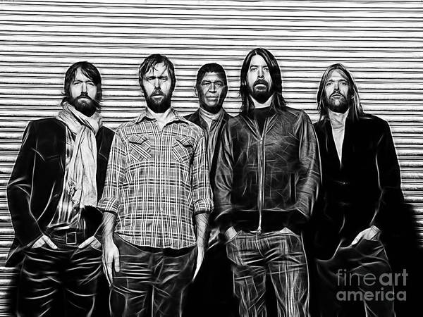 Wall Art - Mixed Media - Foo Fighters Collection by Marvin Blaine