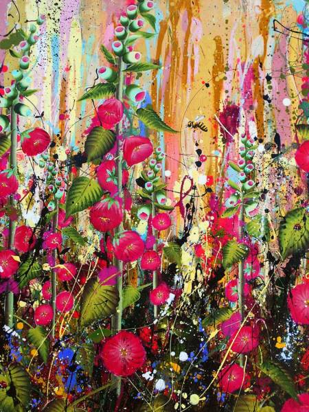 Wall Art - Painting - Food For Bees And Butterflies Detail by Angie Wright