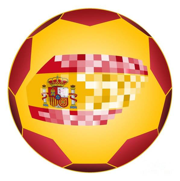 Wall Art - Digital Art - Football Ball With Spanish Flag by Michal Boubin