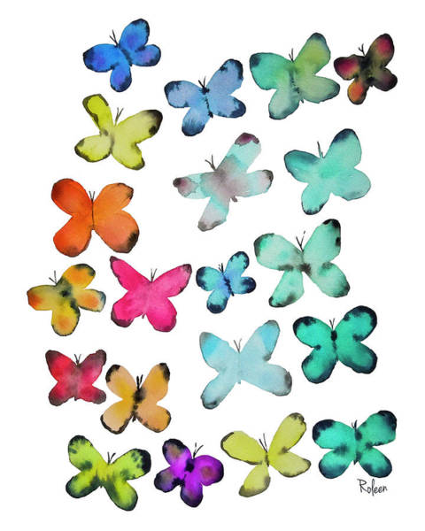 Butterfly Wall Art - Painting - For A Friend by Roleen Senic