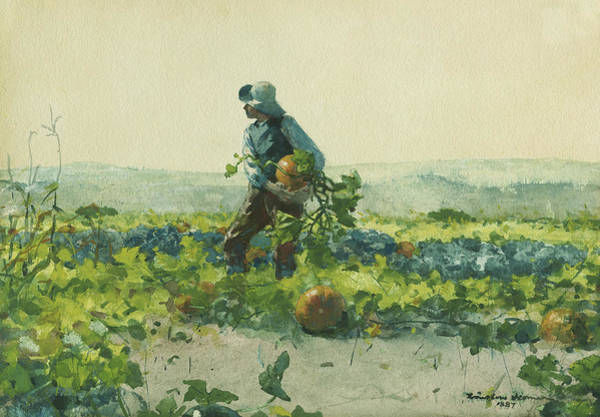 Allotment Wall Art - Painting - For To Be A Farmer's Boy by Winslow Homer