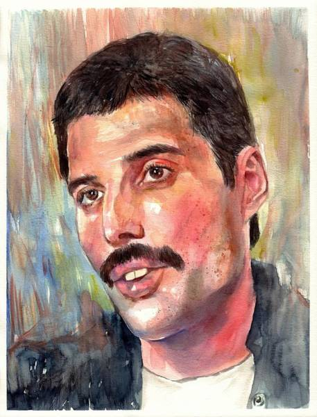 Wall Art - Painting - Freddie Mercury Portrait by Suzann Sines
