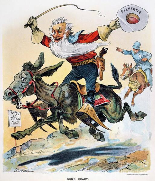 Photograph - Free Silver Cartoon, 1896 by Granger